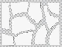 Paper torn to pieces. Scrap paper. Web banner background. Paper torn to pieces. Scrap paper. Web banner background stock illustration