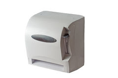 Paper Towel Dispenser. Isolated over white background Royalty Free Stock Photos