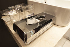 Paper towel dispenser Stock Images