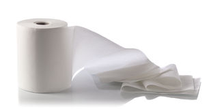 Paper towel isolated on white Royalty Free Stock Photo