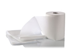 Paper towel isolated on white Royalty Free Stock Photos
