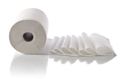 Paper towel isolated on white Stock Image