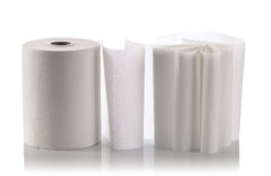 Paper towel isolated on white Stock Photos