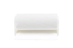 Paper towel roll with white background Royalty Free Stock Images