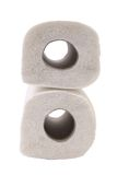 Paper towel rolls. Stock Image