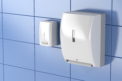 Paper towel and soap dispensers Royalty Free Stock Photography