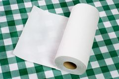 Paper towel on tabletop royalty free stock photo