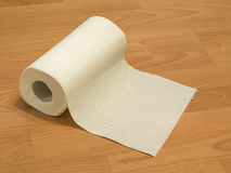 Paper towels. Roll of white paper towels Royalty Free Stock Image