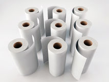 Paper towels. On white background royalty free illustration