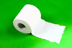 Paper towels. A roll of paper towels Stock Images