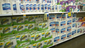 Paper towels selling at store Stock Image