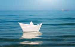Paper toy ship Royalty Free Stock Photo