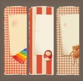 paper toys för baner Royaltyfria Bilder