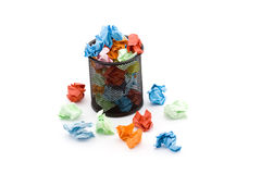Paper trash Stock Image