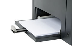 Paper tray at the base of the laser printer Stock Photos