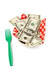 Paper tray and dollars Royalty Free Stock Photography