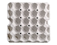 Paper tray for egg  Royalty Free Stock Photography