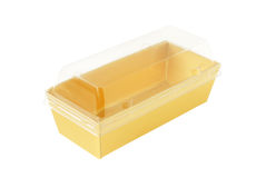 Paper Tray Transparent Cover isolated on white background clippi Stock Image