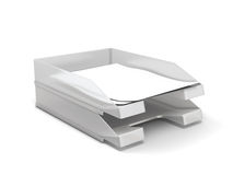 Paper Tray. On white background. 3d render image stock illustration