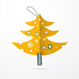 Paper Tree with String Isolated on White Background Royalty Free Stock Photos