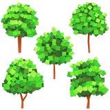 paper trees stock illustrationer