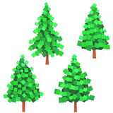 Paper trees Royalty Free Stock Images
