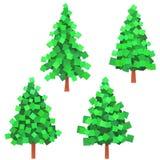 paper trees royaltyfri illustrationer