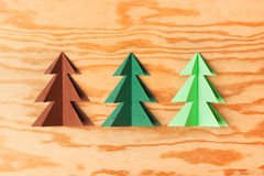 Paper trees Stock Photos