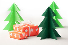 Paper trees Stock Image