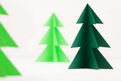 Paper trees Royalty Free Stock Photos