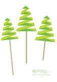 Paper trees illustration Stock Image