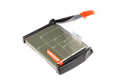 Paper trimmer on white Stock Photos