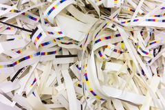 Paper Trimmings Waste CMYK Printing Industry Background Strips C Royalty Free Stock Photo