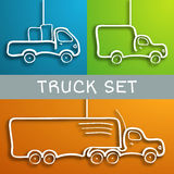 Paper truck set Stock Photos