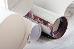 Paper tube Stock Photo