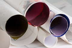 Paper tube Royalty Free Stock Images