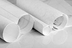 Paper tube Royalty Free Stock Photos