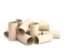 Paper tube of toilet paper Stock Photos