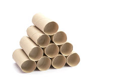 Paper tube of toilet paper Royalty Free Stock Photo