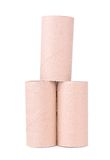 Paper tube on a white background Stock Image