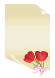 Paper with tulips Royalty Free Stock Photography