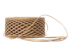 Paper Twine Macro Isolated Stock Photo