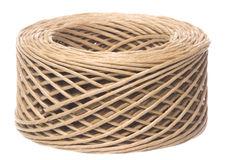 Paper Twine Macro Isolated Royalty Free Stock Image