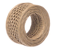 Paper Twine Macro Isolated Royalty Free Stock Photography