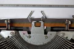 Paper and Typewriter Royalty Free Stock Images