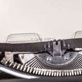 Paper in typewriter Royalty Free Stock Photo