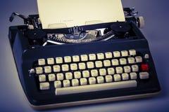 Paper in typewriter Stock Photos