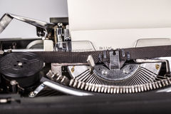Paper in typewriter Stock Image