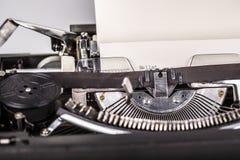 Paper in typewriter Stock Image