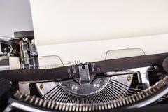 Paper in typewriter Royalty Free Stock Photo